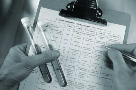 food product samples and toxicity reporting form