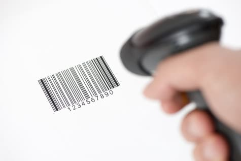 manual scanning of a barcode