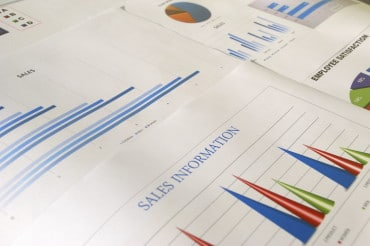 sales and employee satisfaction graphs and charts