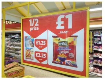 Sainsbury's instore price promotion