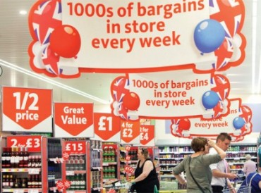 Tesco instore promotional signs